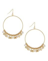 Bcbgeneration Natural Habitat Circle And Beads Gypsy Hoop Earrings Gold