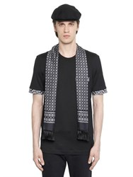 Dolce And Gabbana Silk Scarf Cotton Jersey T Shirt