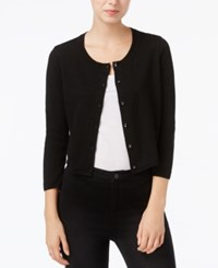 Maison Jules Lace Trim Cardigan Only At Macy's Deep Black