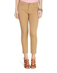 Lauren Ralph Lauren Petite Stretch Twill Skinny Pant Cliff Tan