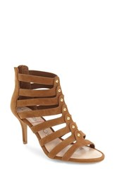 Sole Society Women's 'Anja' Cage Sandal Cognac Suede