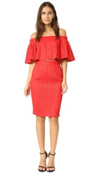 Black Halo Varla 2 Piece Dress Escape Red