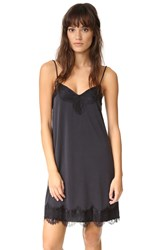 Ella Moss Lace Cami Slip Dress Black