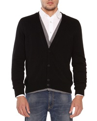 Tomas Maier Cashmere Double Layer Cardigan Black
