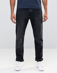 Esprit Straight Fit Jeans In Black Washed Denim Washed Black