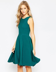 Closet Full Skater Dress With Cut Out Back Teal