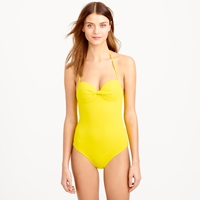 J.Crew Dd Cup Italian Matte Knotted Underwire One Piece Swimsuit