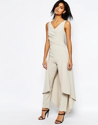 Asos Premium Maxi Jumpsuit With Wrap Front Mint Green