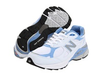 New Balance W990 White Blue Women's Running Shoes
