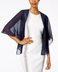 Sl Fashions Sheer Capelet Shawl Navy