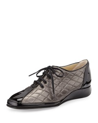 Amalfi By Rangoni Esse Quilted Leather Sneaker Pewter
