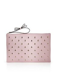 Red Valentino Redvalentino Clutch With Eyelets Pink