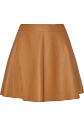 Joie Garnet Leather Mini Skirt Brown