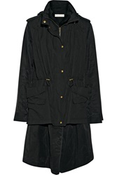 Donna Karan Convertible Padded Twill And Cotton Blend Jacket