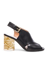 Maison Martin Margiela Maison Margiela Leather Slingback Heels In Black