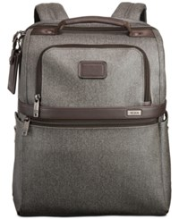Tumi Alpha Ballistic Travel Slim Solutions Backpack In Earl Grey