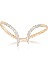 Ana Khouri Stem 18 Karat Rose Gold Diamond Hand Bracelet