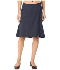 Royal Robbins Herringbone Discovery Strider Skirt Dark Indigo Women's Skirt Blue