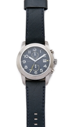 Marc By Marc Jacobs Larry 46Mm Leather Strap Watch Navy Navy