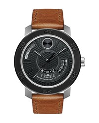 46Mm Bold Dual Time Watch Black Movado