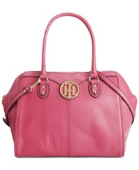 Tommy Hilfiger Maggie Pebble Leather Dome Satchel