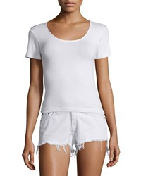 Rag And Bone Rag And Bone Jean Melrose Short Sleeve Tee Bright White Women's Size M