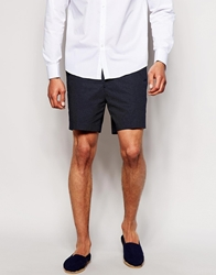 Asos Slim Fit Shorts In Polka Dot Navy