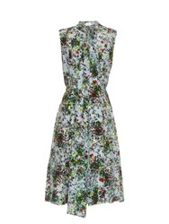 Erdem Richelle Field Flower Print Sleeveless Dress Green Multi