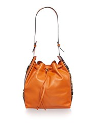 Just Cavalli Orange Bucket Bag Orange