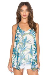 Ella Moss Malaya Tropical Tank Blue