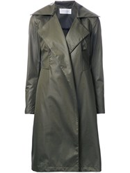 Strateas Carlucci 'Fortress' Trench Coat Green