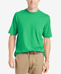 Izod Solid Double Layer Jersey Pocket T Shirt Absinth Grn