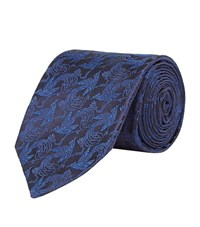 Harrods Of London Birds Of Paradise Limited Edition Tie Unisex Navy