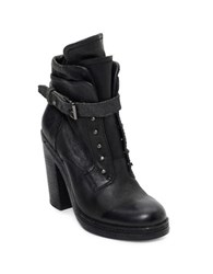 Dolce Vita Justin Perforated Leather Boots Black