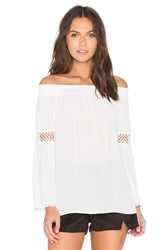 Ramy Brook Dali Off The Shoulder Top White