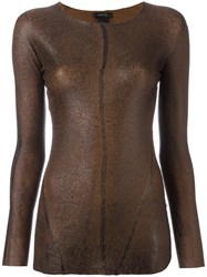 Avant Toi Slim Fit Pullover Brown