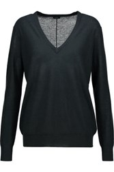Joseph Cashmere And Silk Blend Sweater Dark Green