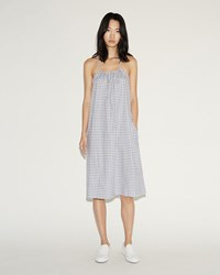 6397 Flannel Nightie Dress Blue Check
