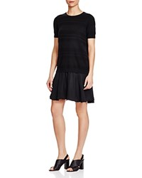 Timo Weiland Christie Knit Combo T Shirt Dress Black