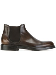 Doucal's Classic Chelsea Boots Brown