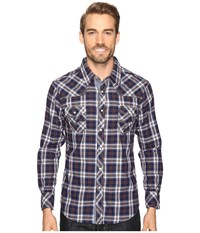Rock And Roll Cowboy Long Sleeve Snap B2s8412 Blue Men's Clothing