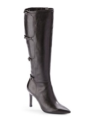 Lauren Ralph Lauren Vallerie Leather Tall Stiletto Boots Black