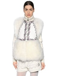 Moncler Gamme Rouge Cashmere Fur And Wool Vest