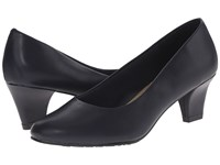 Soft Style Gail Navy Leather High Heels Blue