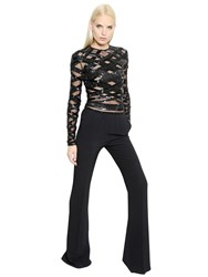 Zuhair Murad Embellished Tulle And Crepe Jumpsuit