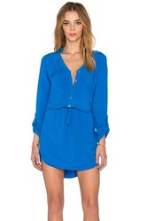 Michael Stars Mini Shirt Dress Blue