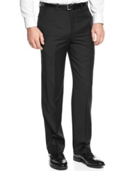 Greg Norman For Tasso Elba Solid Black Pants