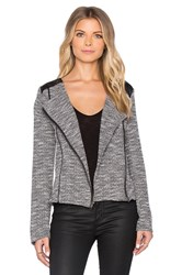 Michael Stars Long Sleeve Moto Jacket Gray