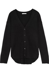 Alexander Wang Ribbed Knit Wool And Cashmere Blend Cardigan Black