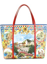 Dolce And Gabbana 'Dauphine' Print Shopping Tote Multicolour